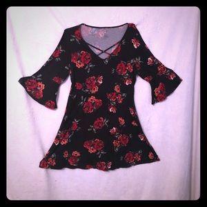 Arizona Jean Co Juniors black floral Dress